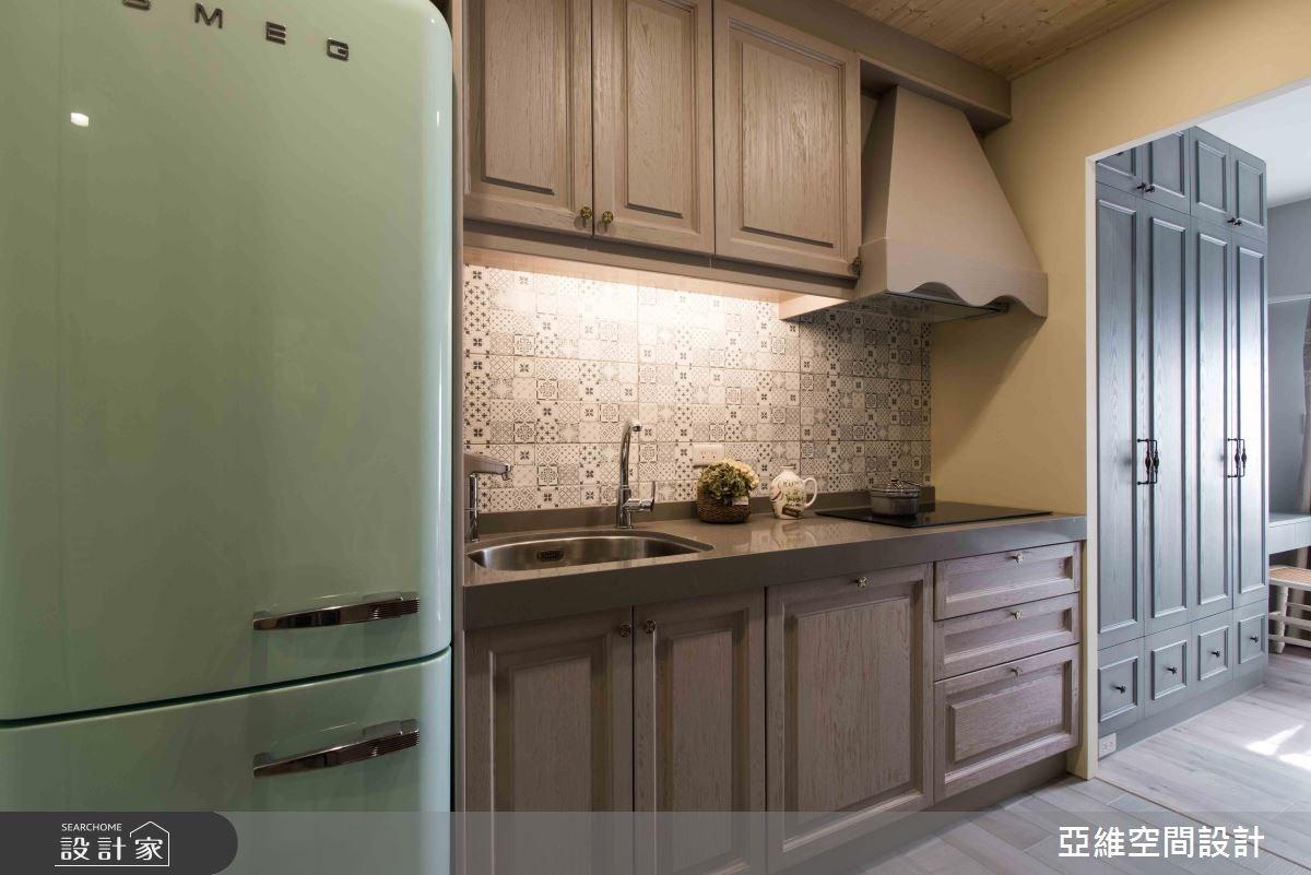 11坪新成屋(5年以下)_鄉村風廚房案例圖片_亞維空間設計_亞維_27之7