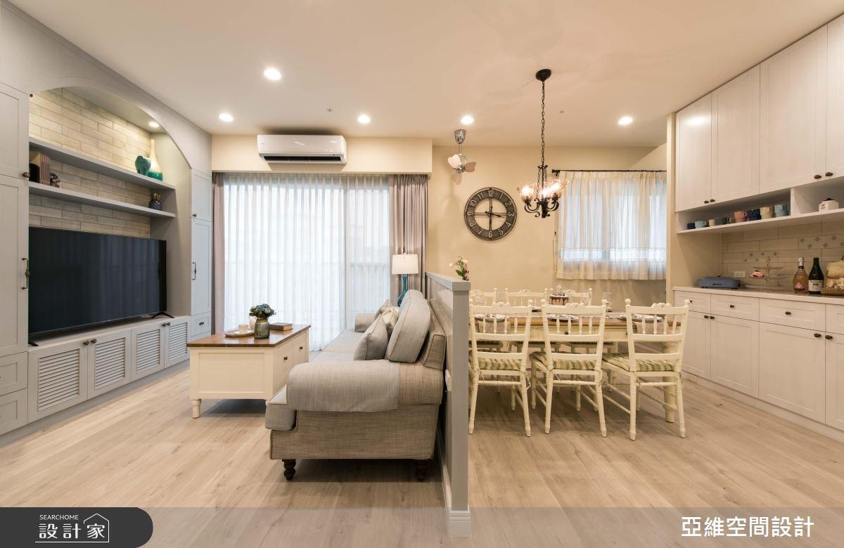 70坪新成屋(5年以下)_美式風客廳餐廳案例圖片_亞維空間設計_亞維_32之3