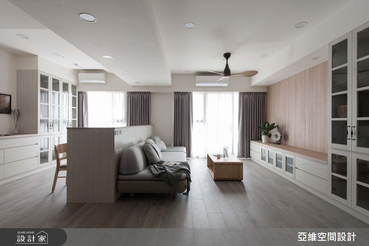 34坪預售屋_混搭風客廳案例圖片_亞維空間設計_亞維_極簡無印之3