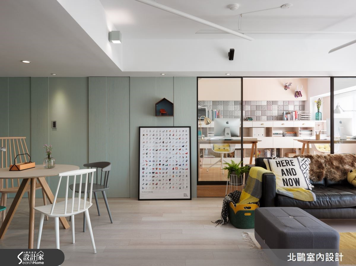 26坪新成屋(5年以下)_北歐風客廳案例圖片_北鷗室內設計_北鷗_10之1