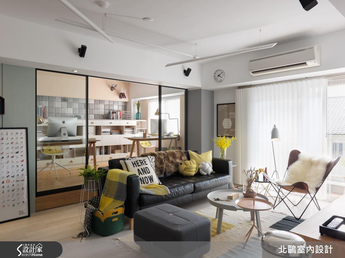 26坪新成屋(5年以下)_北歐風客廳案例圖片_北鷗室內設計_北鷗_10之2