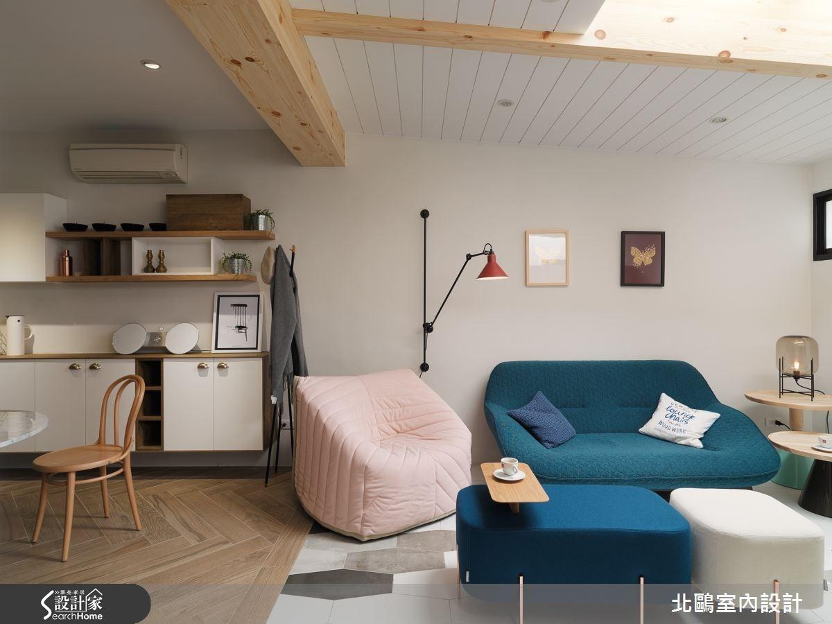 34坪老屋(16~30年)_北歐風客廳案例圖片_北鷗室內設計_北鷗_14Sancal House之3