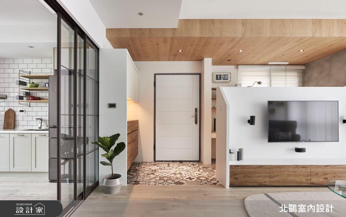 26坪新成屋(5年以下)_北歐風玄關客廳廚房案例圖片_北鷗室內設計_北鷗_20ML House之1