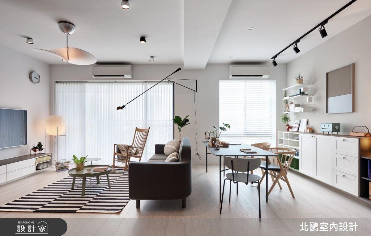 40坪新成屋(5年以下)_北歐風客廳工作區案例圖片_北鷗室內設計_北鷗_23 J16 House之20