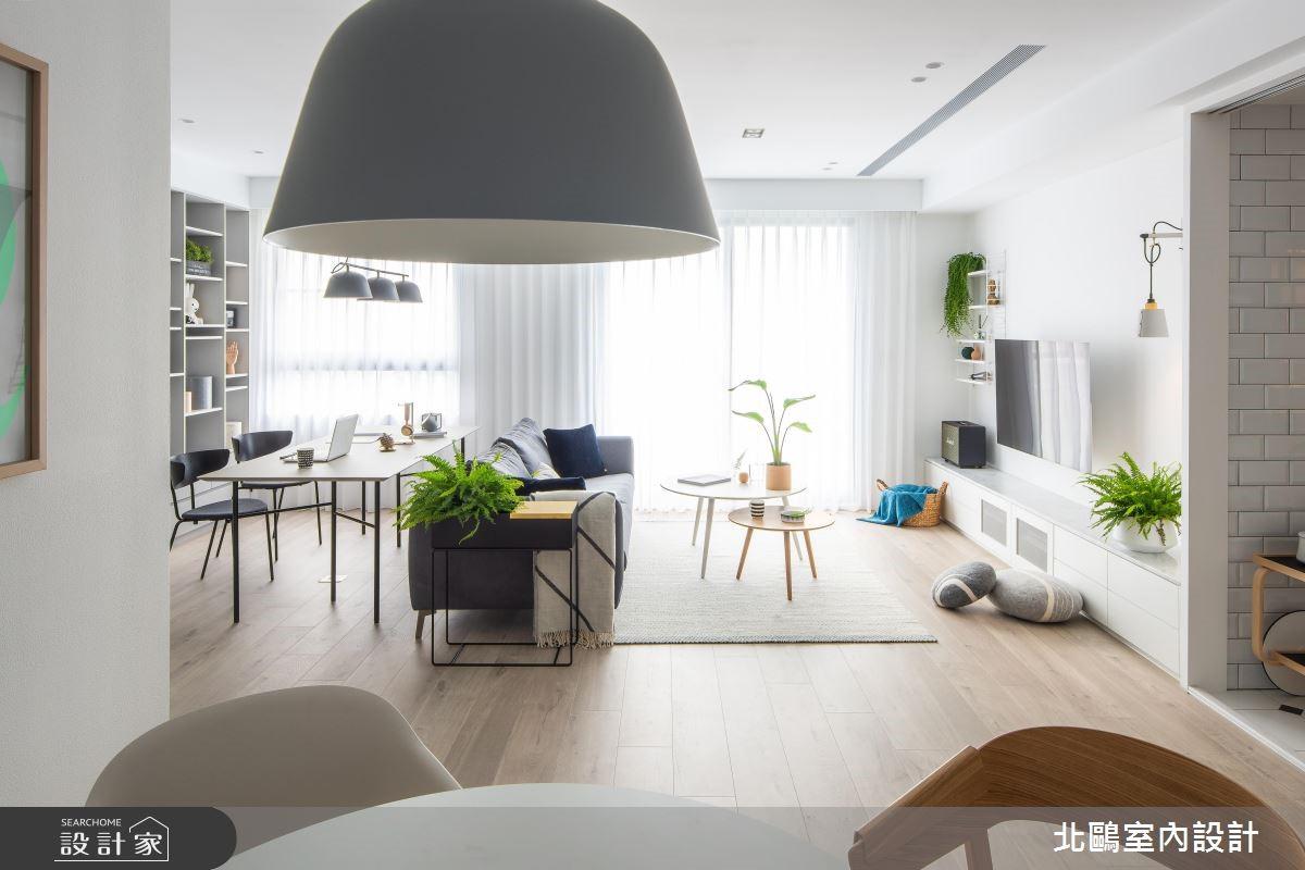 28坪新成屋(5年以下)_北歐風客廳案例圖片_北鷗室內設計_北鷗_25Cp House之3