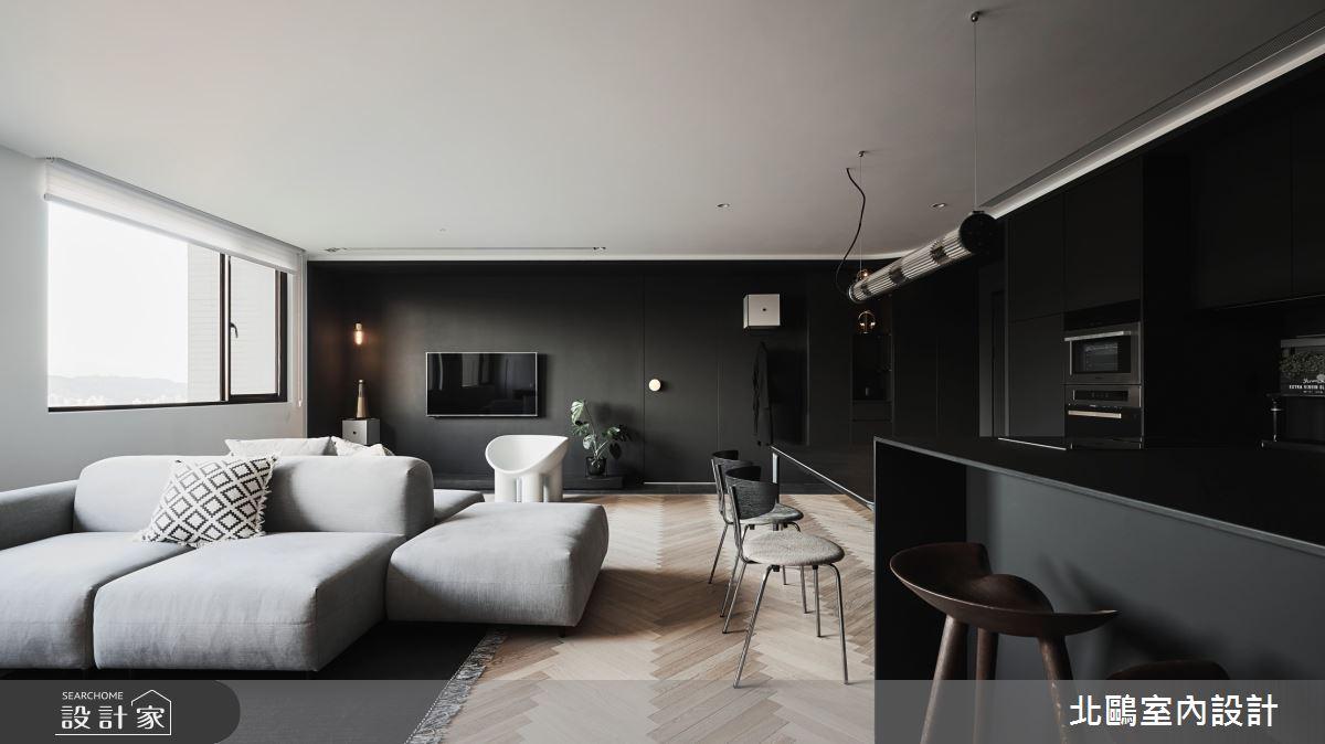 中古屋(5~15年)_北歐風客廳吧檯案例圖片_北鷗室內設計_北鷗_42Black Nick House之4