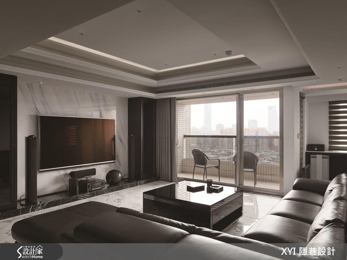 45坪新成屋(5年以下)_現代風客廳案例圖片_隱巷設計顧問有限公司_隱巷_15之5