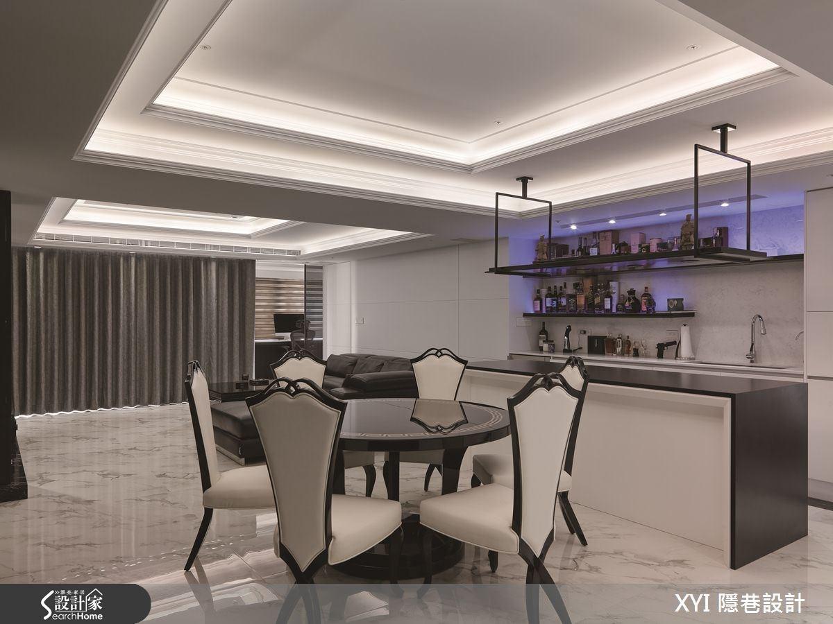 45坪新成屋(5年以下)_現代風餐廳吧檯案例圖片_隱巷設計顧問有限公司_隱巷_15之7