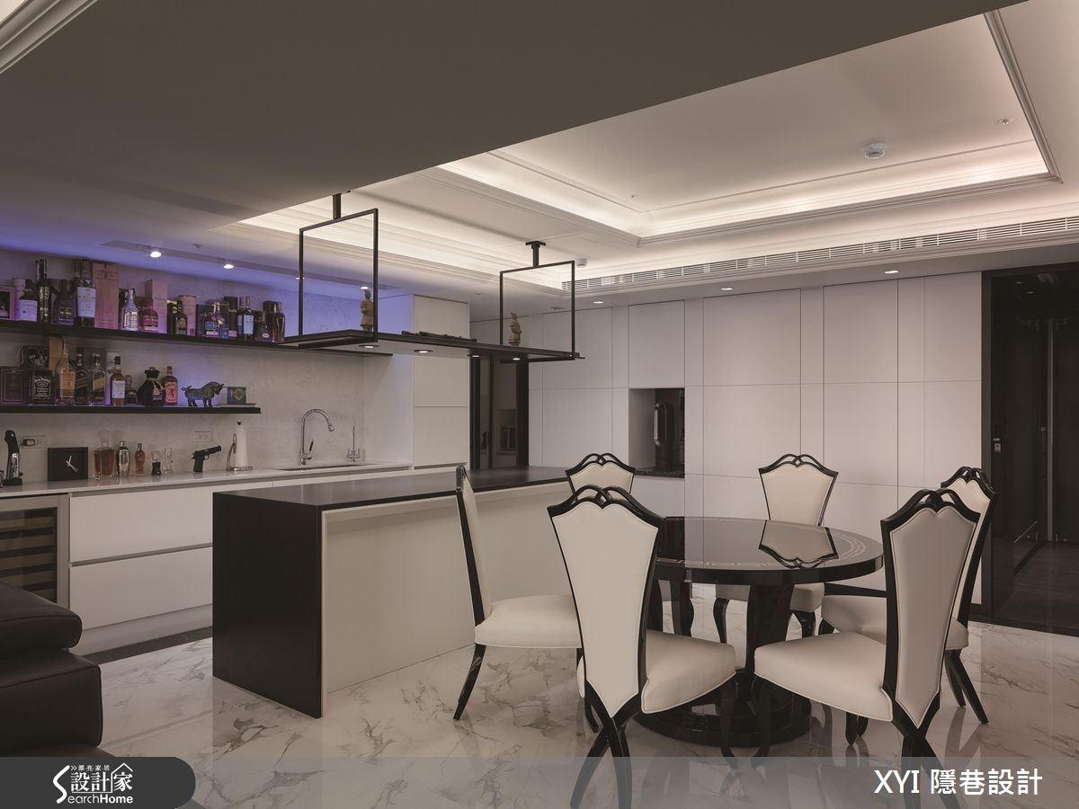 45坪新成屋(5年以下)_現代風餐廳吧檯案例圖片_隱巷設計顧問有限公司_隱巷_15之13