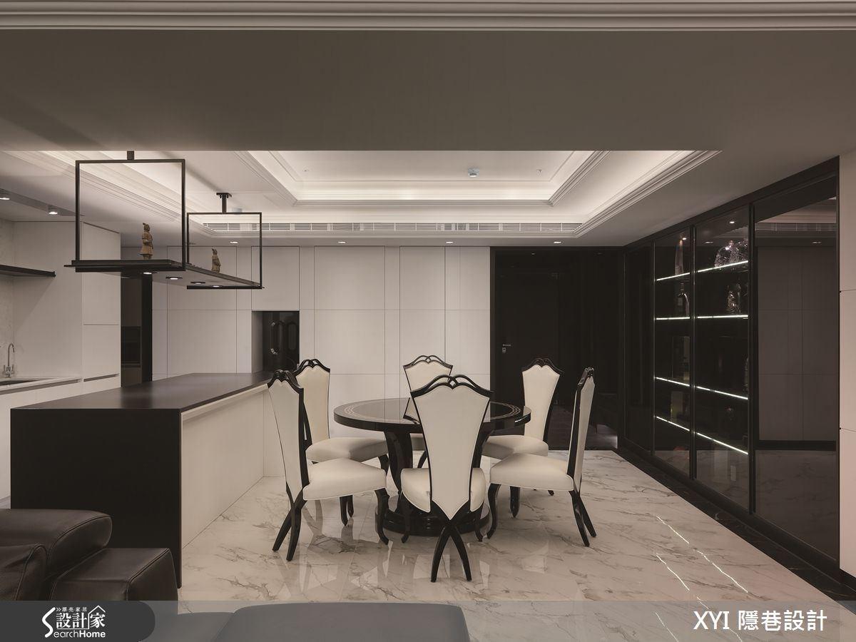 45坪新成屋(5年以下)_現代風餐廳吧檯案例圖片_隱巷設計顧問有限公司_隱巷_15之15