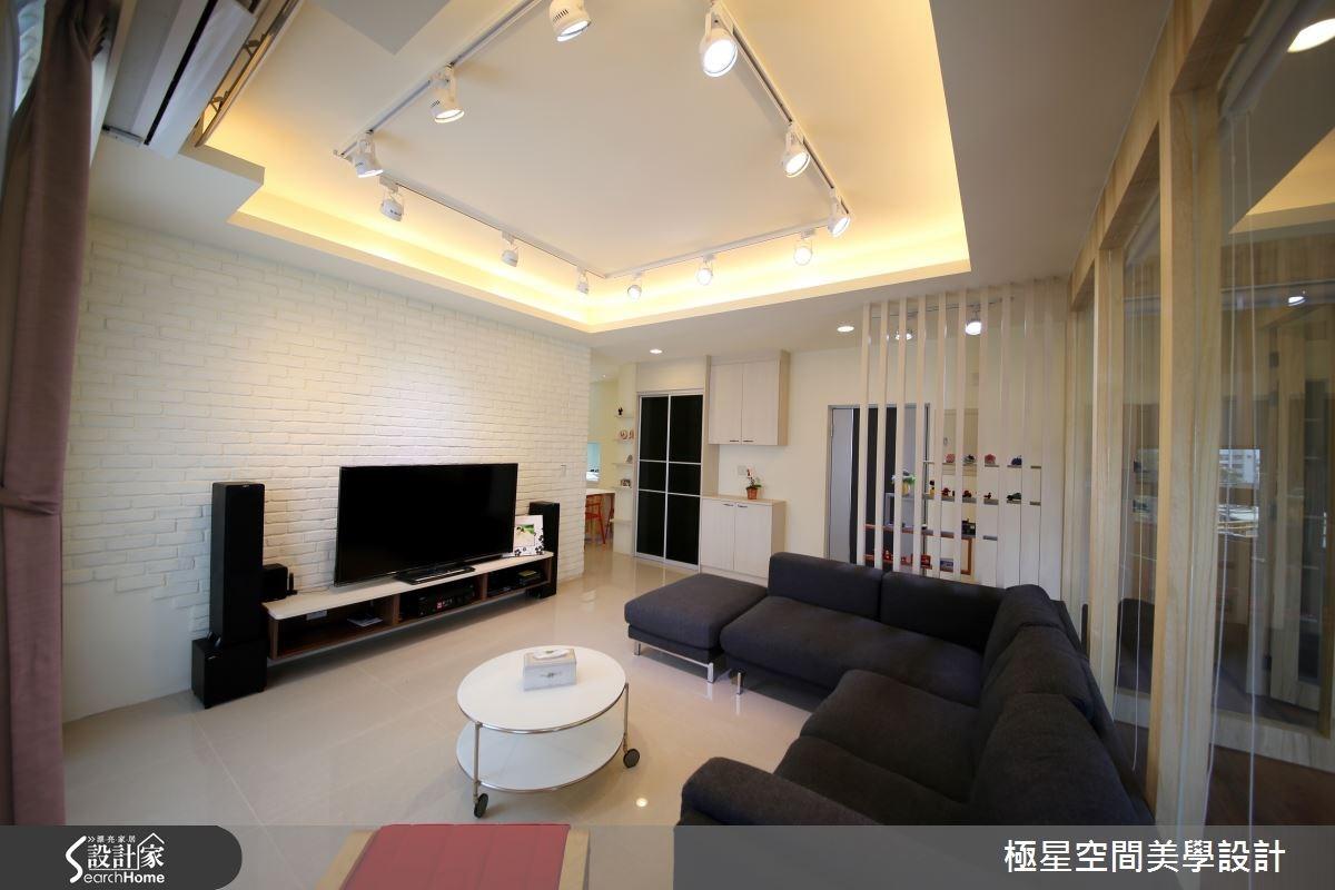 33坪新成屋(5年以下)_北歐風客廳案例圖片_極星空間美學設計_極星_03之2