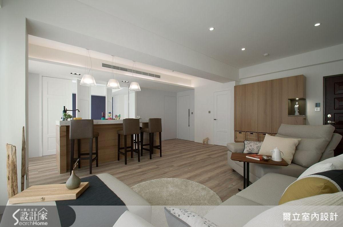 21坪中古屋(5~15年)_現代風客廳案例圖片_爾立室內設計_爾立_01之5