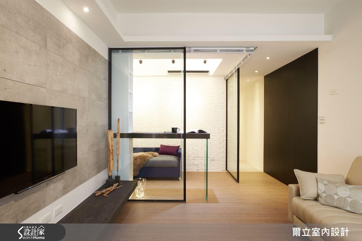 25坪老屋(16~30年)_現代風客廳案例圖片_爾立室內設計_爾立_03之3