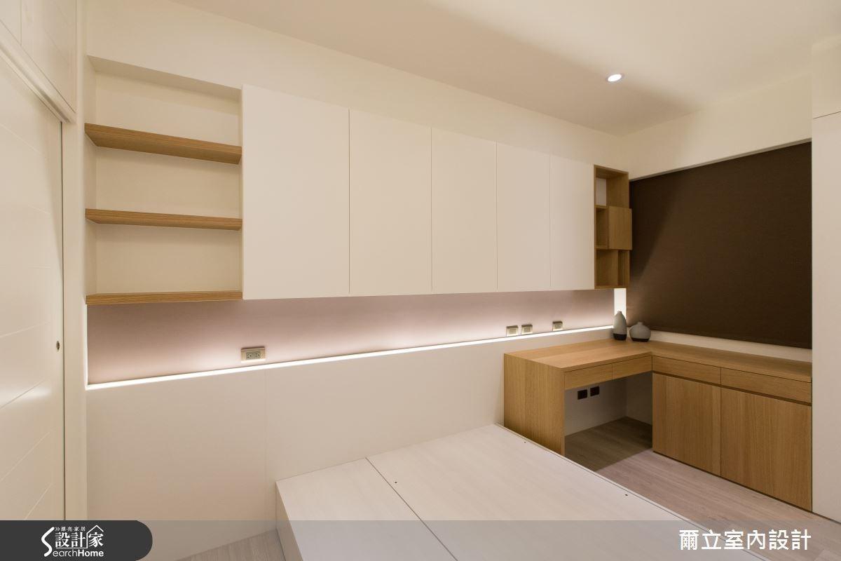28坪老屋(16~30年)_簡約風臥室案例圖片_爾立室內設計_爾立_06之10