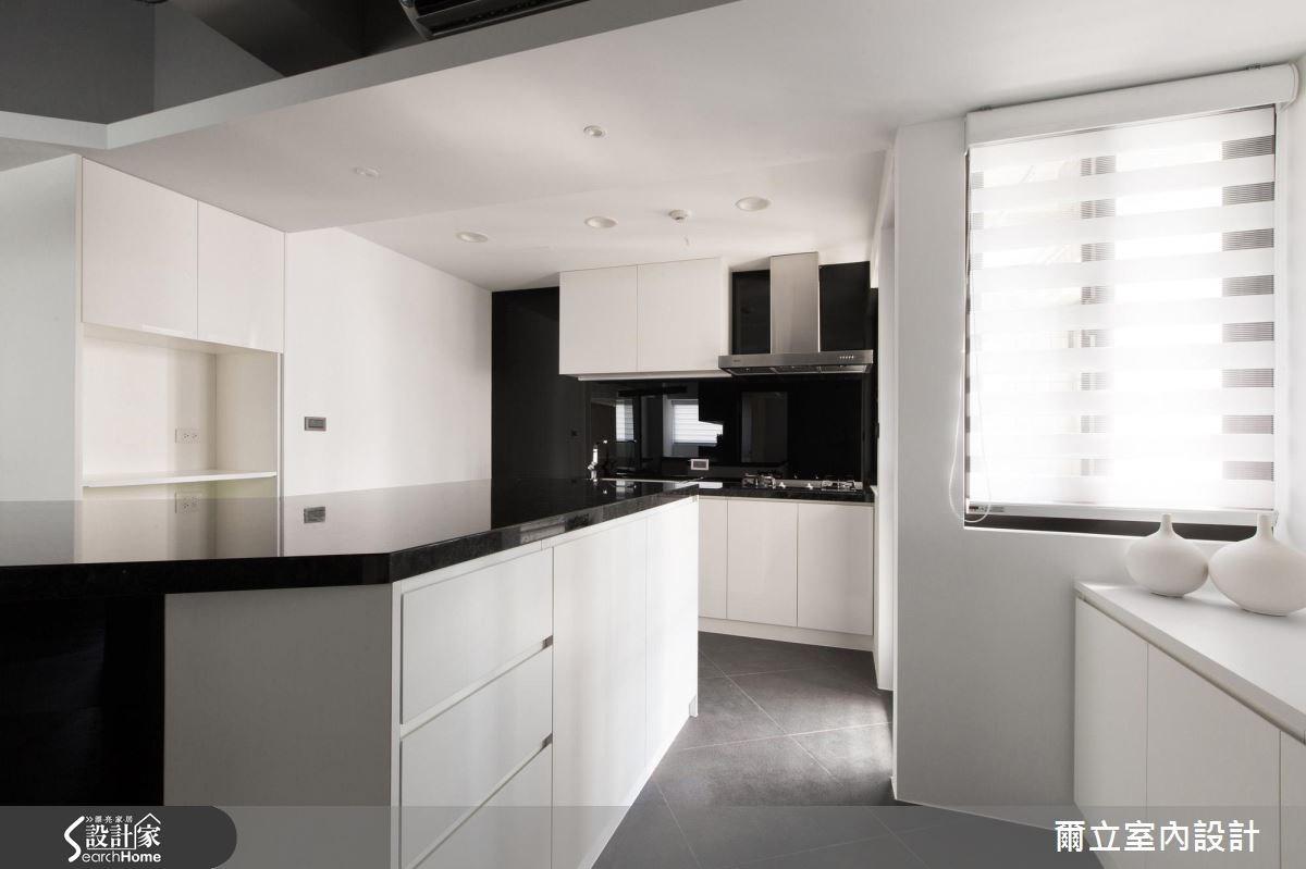 40坪老屋(16~30年)_混搭風廚房案例圖片_爾立室內設計_爾立_08之8