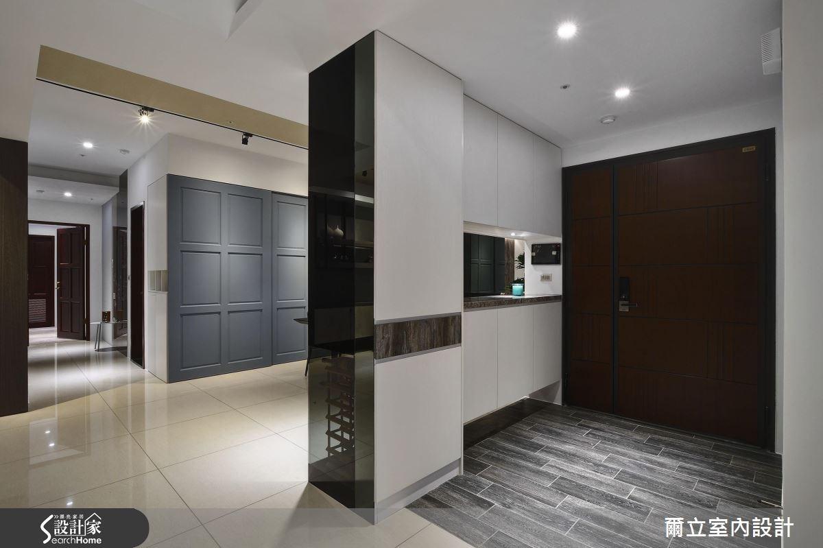 45坪新成屋(5年以下)_混搭風玄關案例圖片_爾立室內設計_爾立_09之1