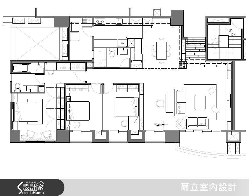 45坪新成屋(5年以下)_混搭風案例圖片_爾立室內設計_爾立_09之19