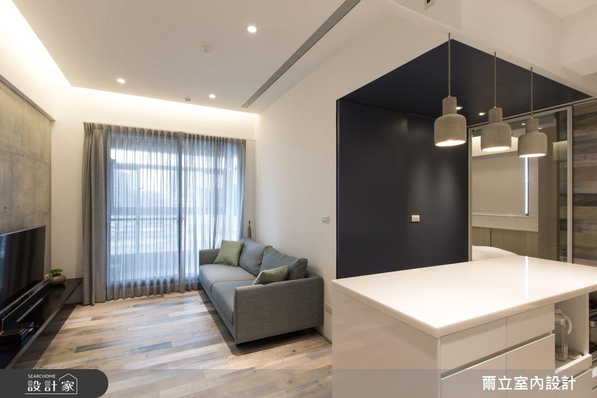 16坪新成屋(5年以下)_休閒風客廳案例圖片_爾立室內設計_爾立_10之3