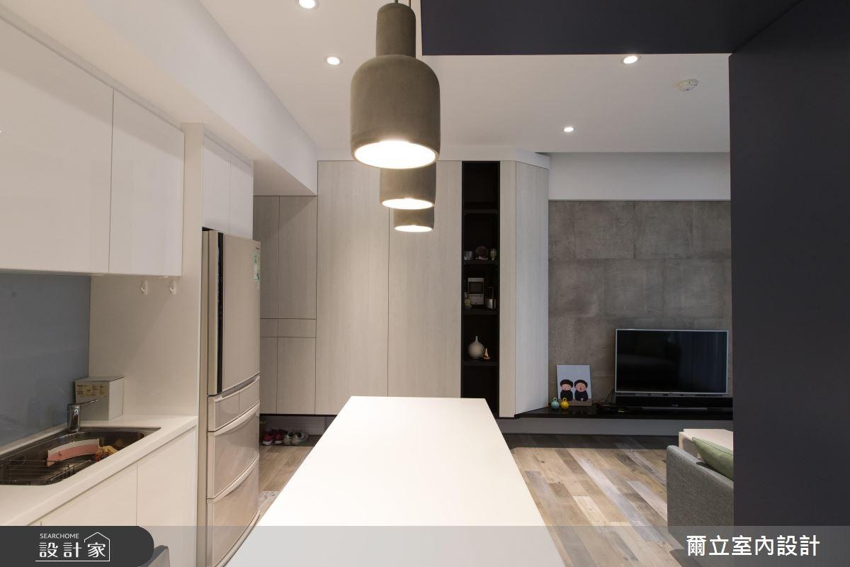 16坪新成屋(5年以下)_休閒風廚房案例圖片_爾立室內設計_爾立_10之4