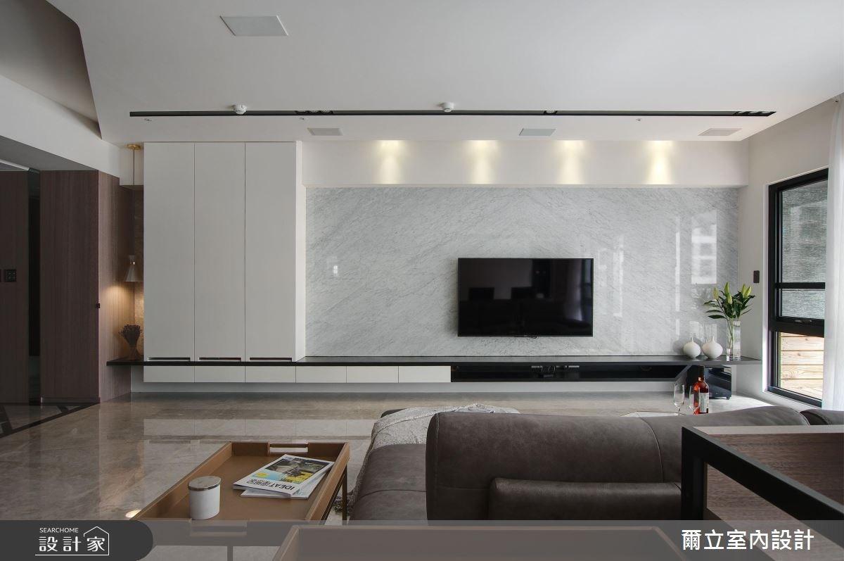 65坪新成屋(5年以下)_簡約風客廳案例圖片_爾立室內設計_爾立_12之3