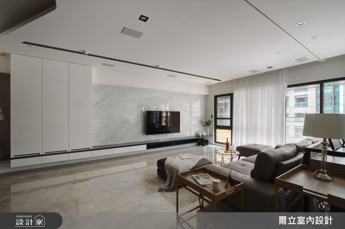 65坪新成屋(5年以下)_簡約風客廳案例圖片_爾立室內設計_爾立_12之4