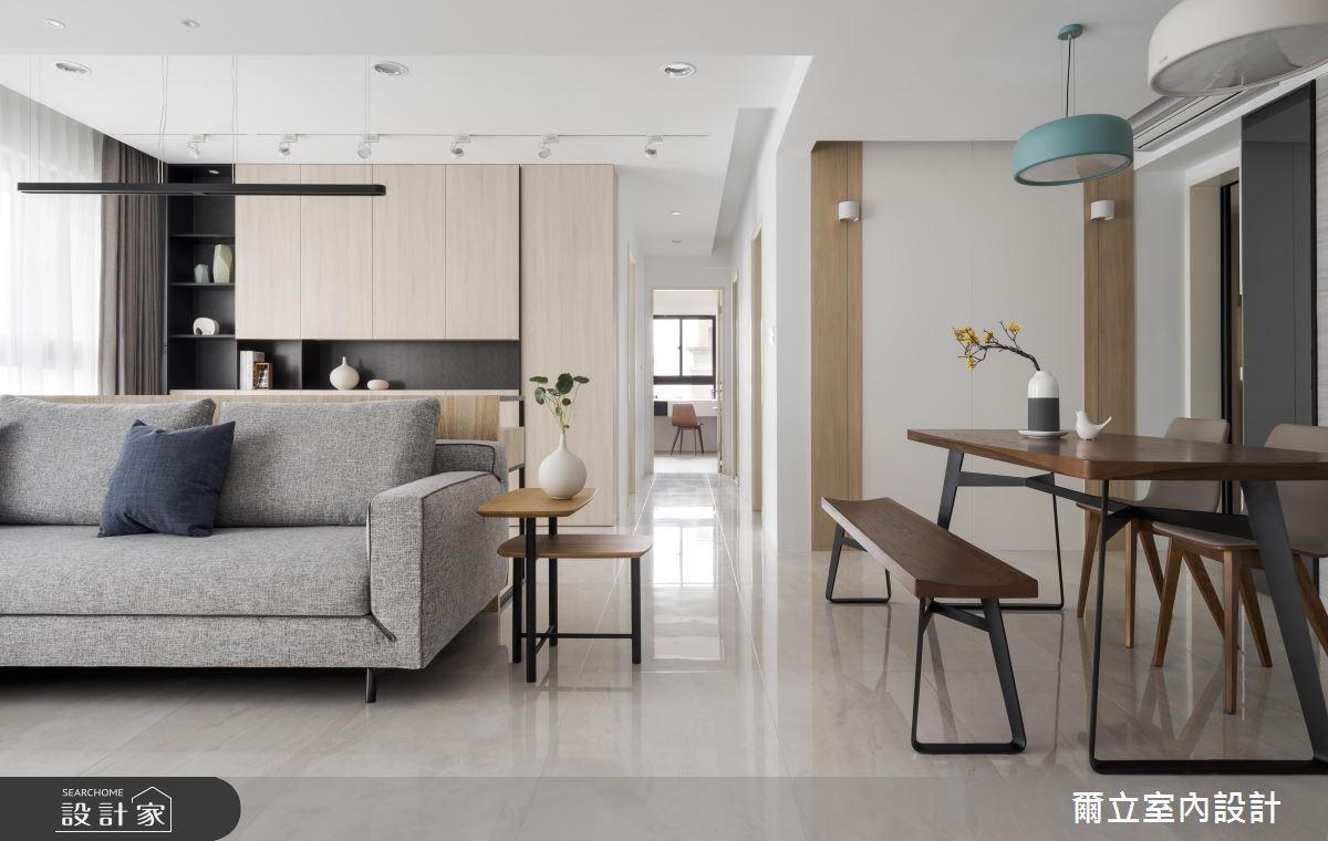 50坪新成屋(5年以下)_簡約風客廳案例圖片_爾立室內設計_爾立_13之2