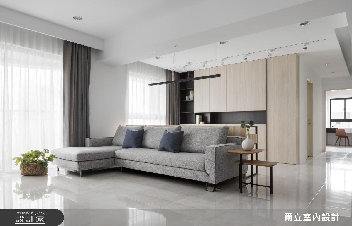 50坪新成屋(5年以下)_簡約風客廳案例圖片_爾立室內設計_爾立_13之3