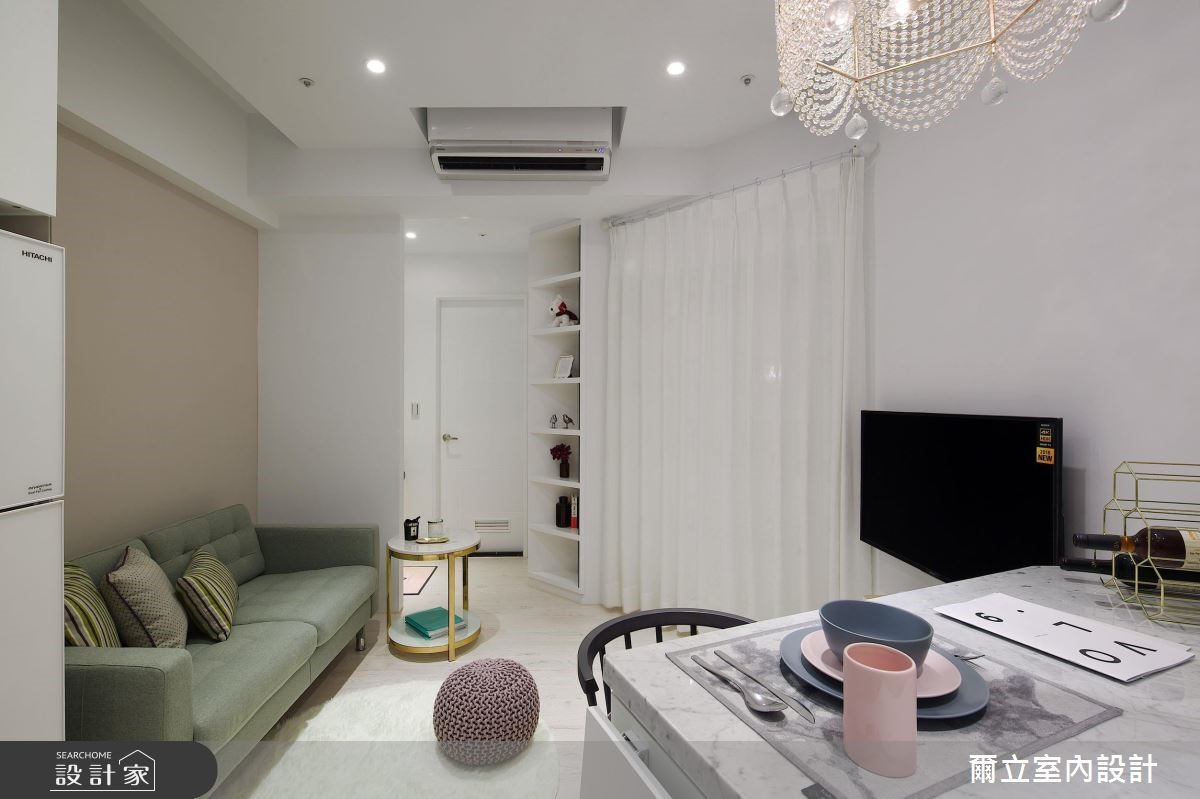 15坪新成屋(5年以下)_新古典客廳案例圖片_爾立室內設計_爾立_14之2