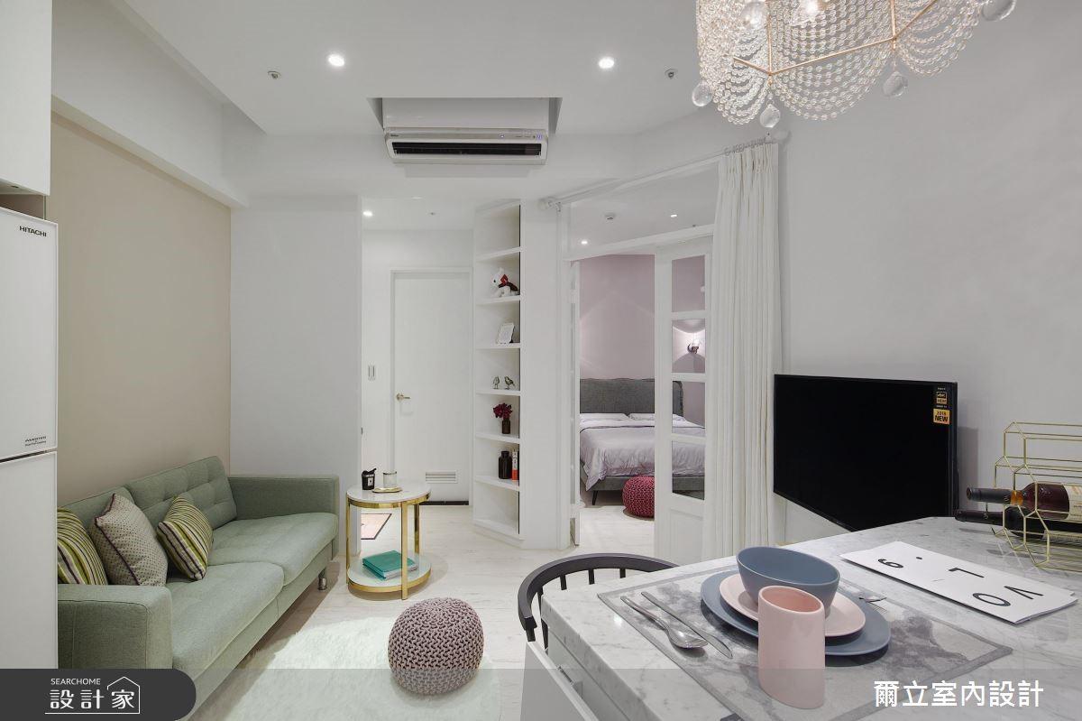 15坪新成屋(5年以下)_新古典客廳案例圖片_爾立室內設計_爾立_14之3