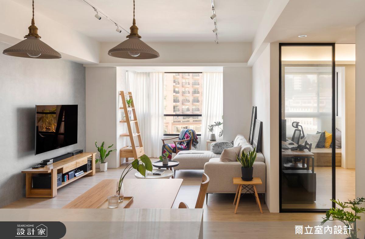 40坪中古屋(5~15年)_混搭風客廳案例圖片_爾立室內設計_爾立_16之2