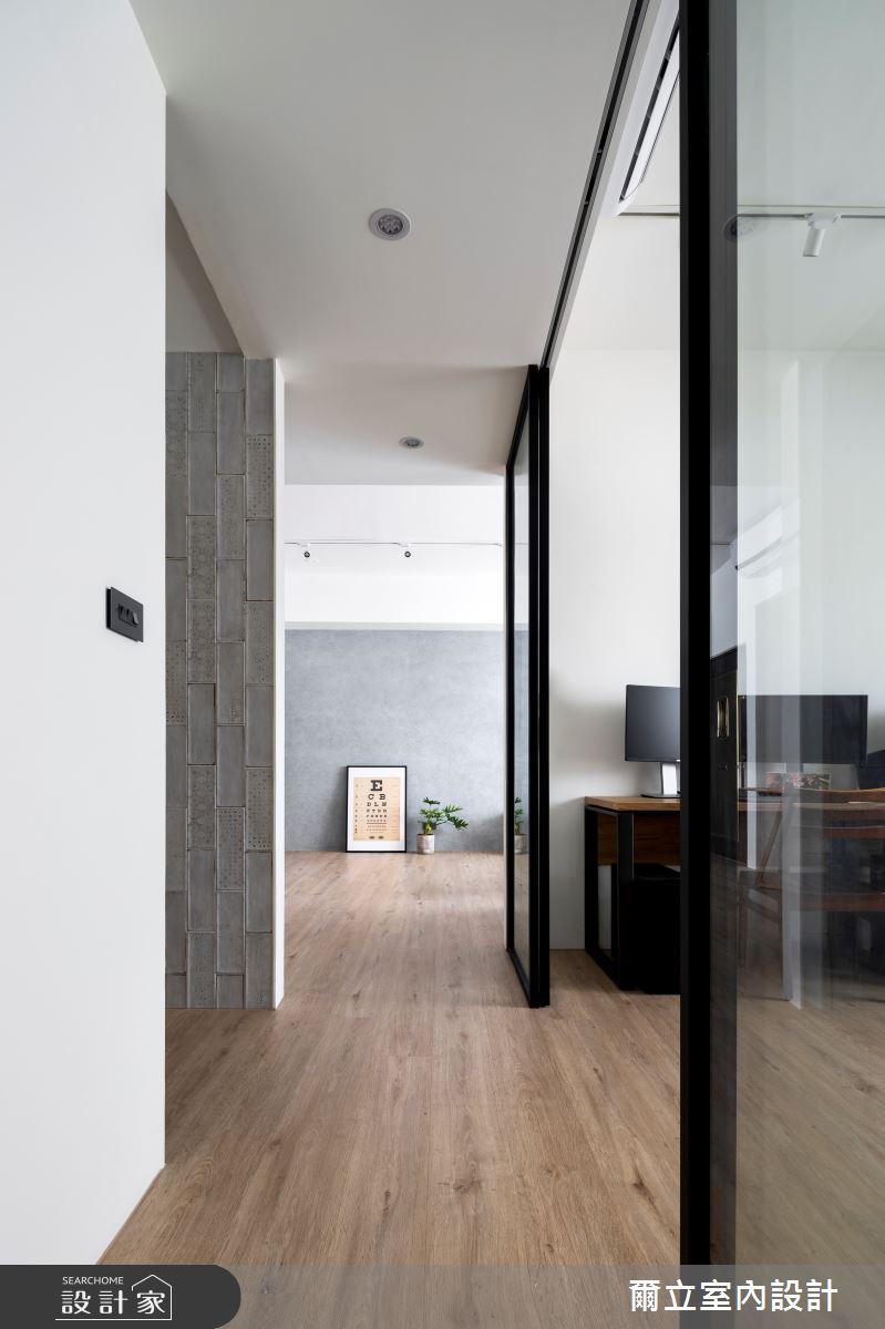 40坪中古屋(5~15年)_混搭風走廊案例圖片_爾立室內設計_爾立_16之9