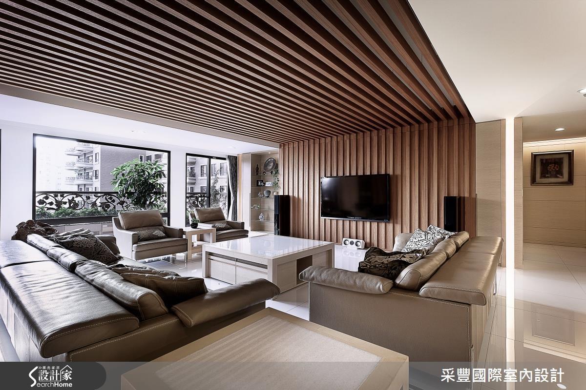 65坪新成屋(5年以下)_現代風客廳案例圖片_采豐國際室內設計_采豐_02之2