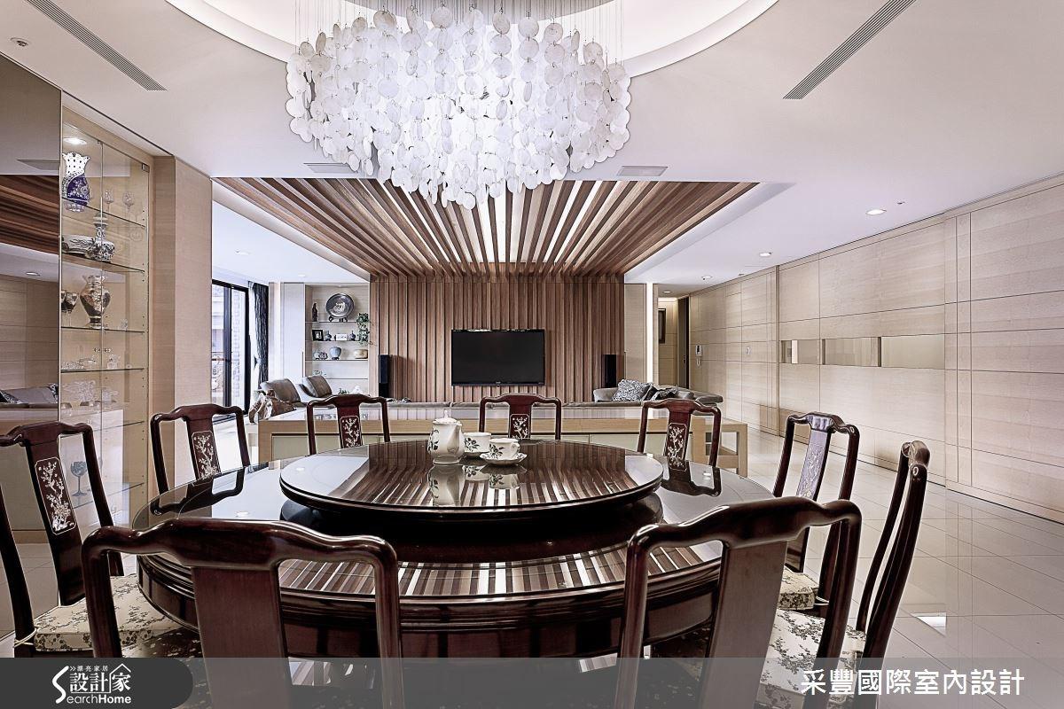 65坪新成屋(5年以下)_現代風餐廳案例圖片_采豐國際室內設計_采豐_02之5