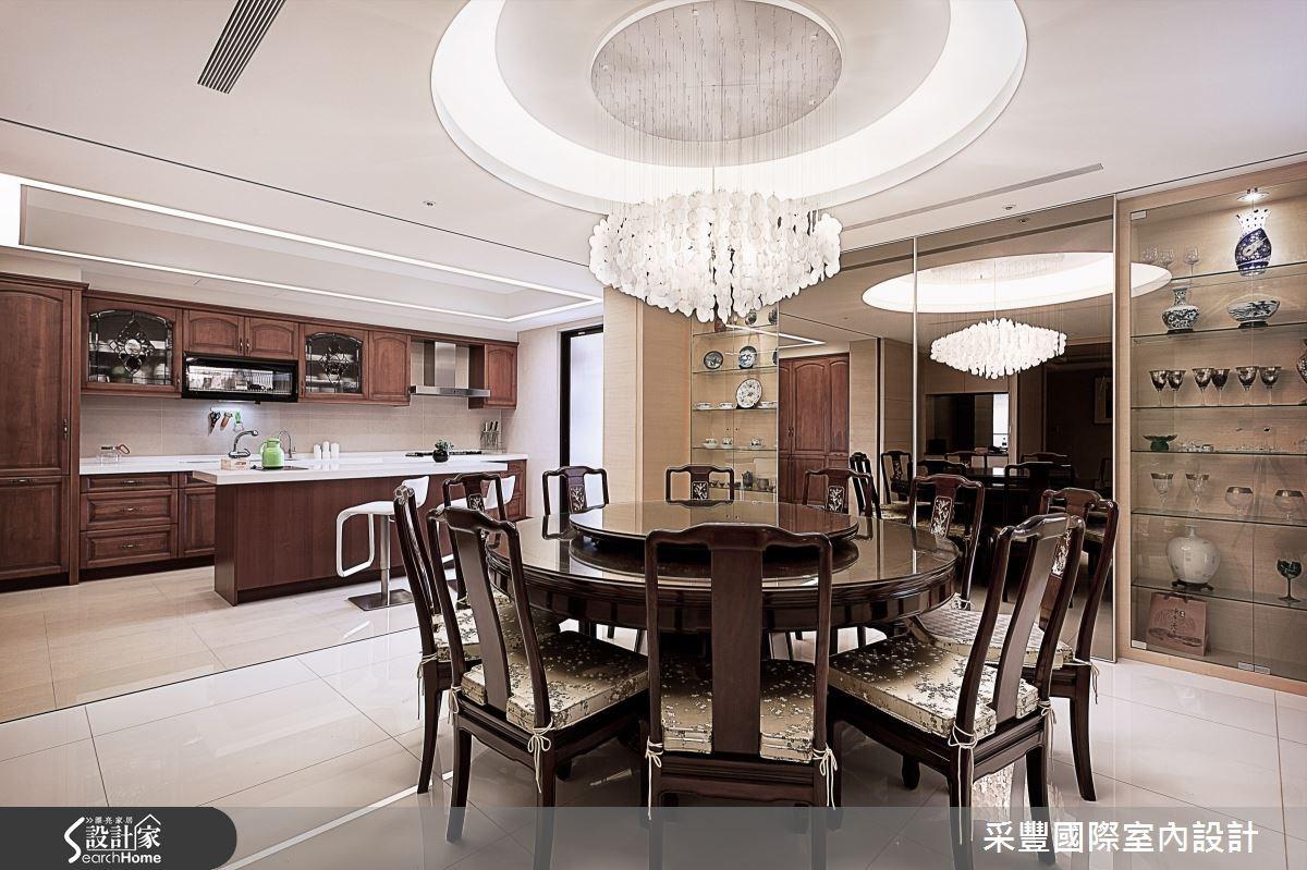 65坪新成屋(5年以下)_現代風餐廳廚房案例圖片_采豐國際室內設計_采豐_02之6