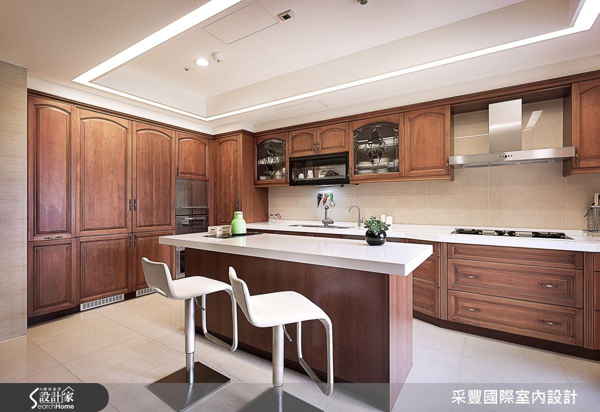 65坪新成屋(5年以下)_現代風餐廳吧檯案例圖片_采豐國際室內設計_采豐_02之7