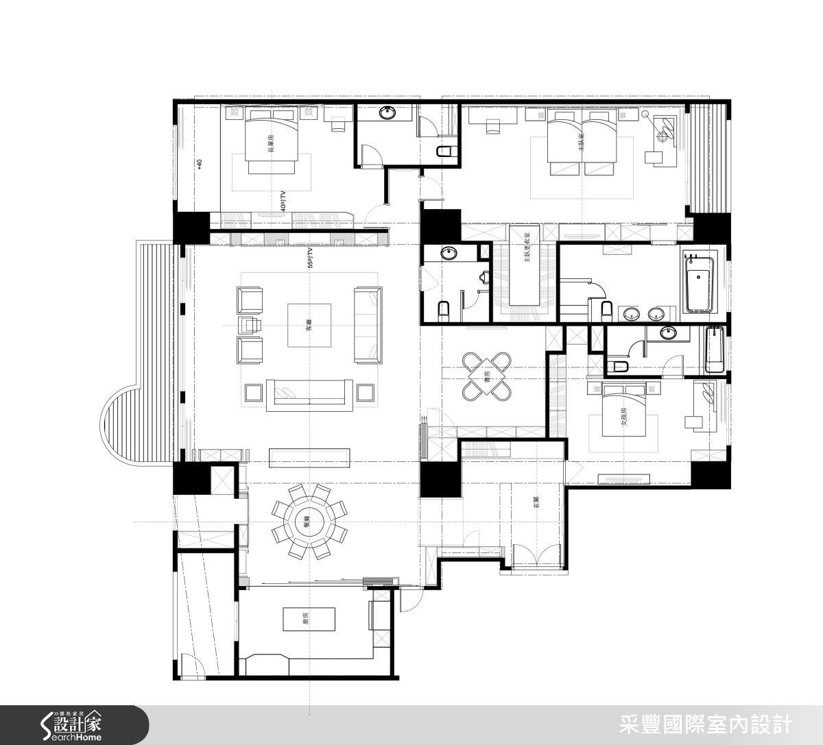 65坪新成屋(5年以下)_現代風案例圖片_采豐國際室內設計_采豐_02之13