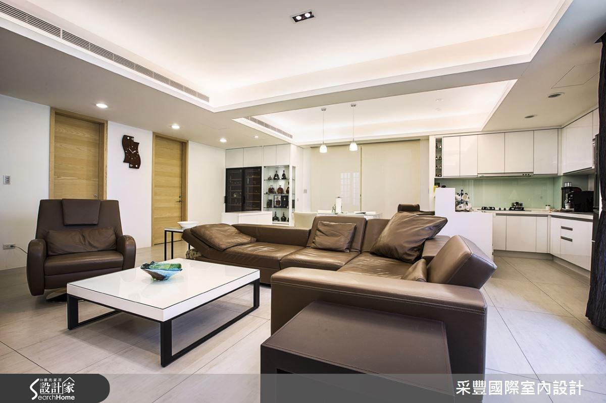 62坪新成屋(5年以下)_現代風客廳案例圖片_采豐國際室內設計_采豐_03之2