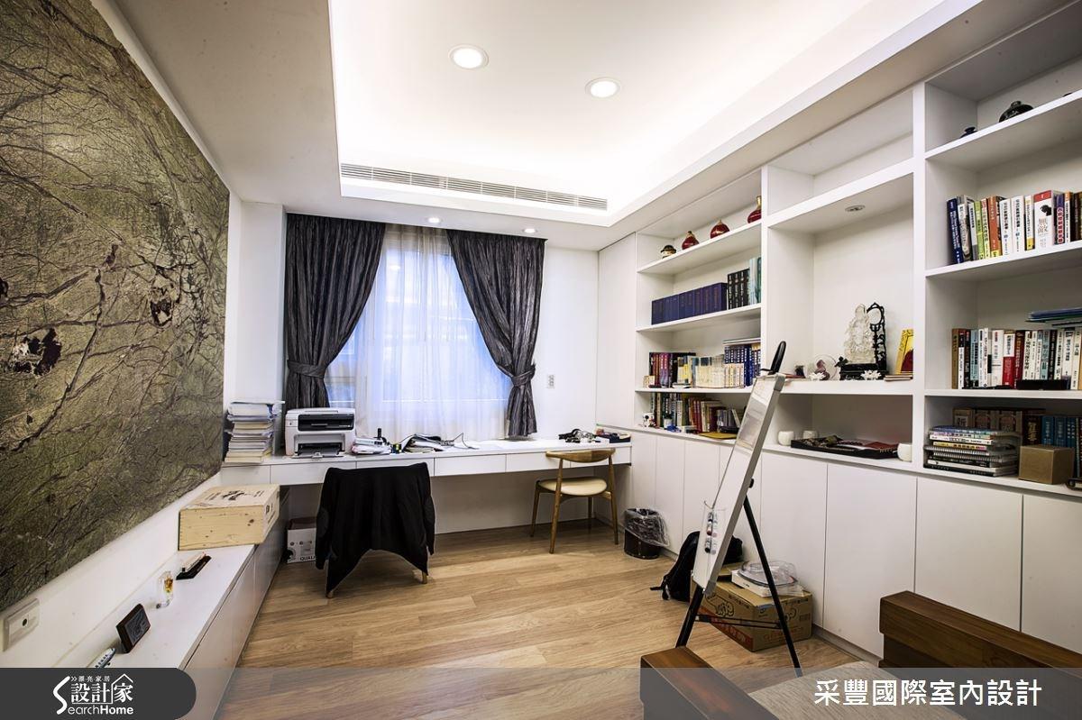 62坪新成屋(5年以下)_現代風書房案例圖片_采豐國際室內設計_采豐_03之4
