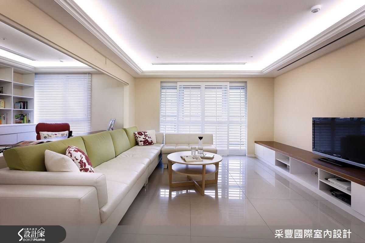 40坪新成屋(5年以下)_鄉村風客廳案例圖片_采豐國際室內設計_采豐_04之3
