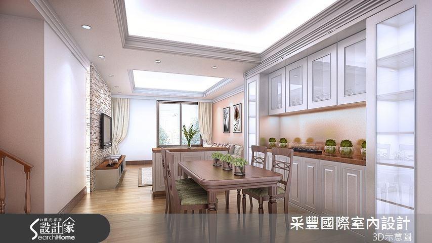 44坪新成屋(5年以下)_鄉村風餐廳案例圖片_采豐國際室內設計_采豐_07之2