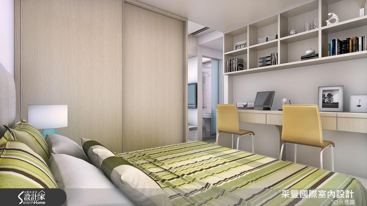 6坪老屋(16~30年)_現代風臥室案例圖片_采豐國際室內設計_采豐_09之2
