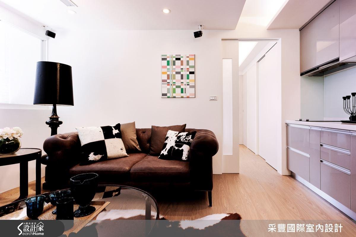 10坪老屋(16~30年)_現代風客廳廚房案例圖片_采豐國際室內設計_采豐_01之2