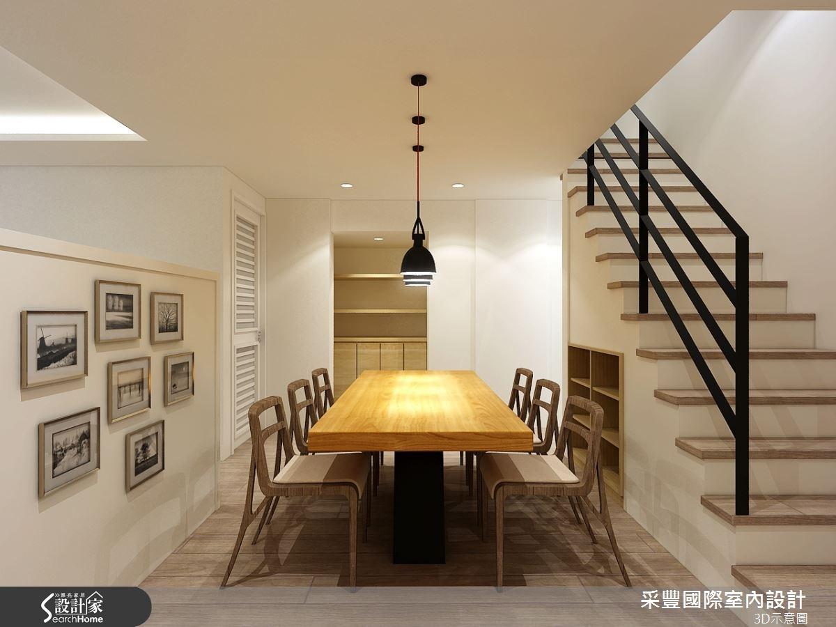 17坪_現代風餐廳樓梯案例圖片_采豐國際室內設計_采豐_11之2