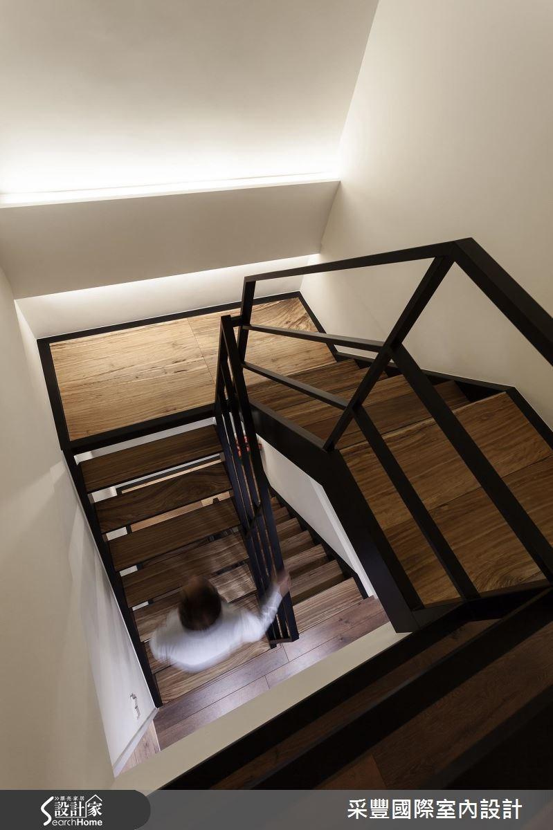 50坪老屋(16~30年)_休閒風樓梯案例圖片_采豐國際室內設計_采豐_12之4
