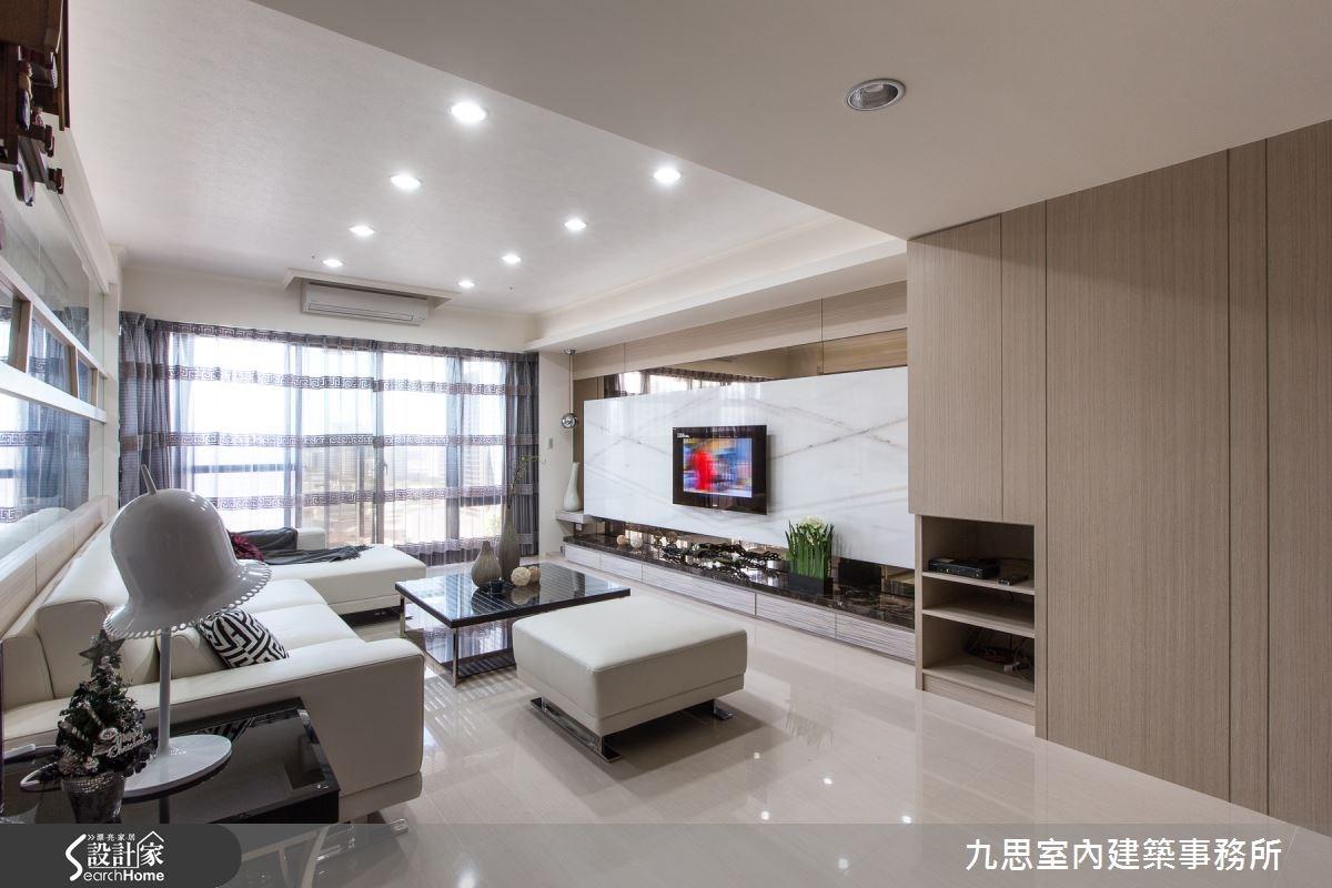 42坪新成屋(5年以下)_混搭風客廳案例圖片_九思室內建築事務所_九思_02之3