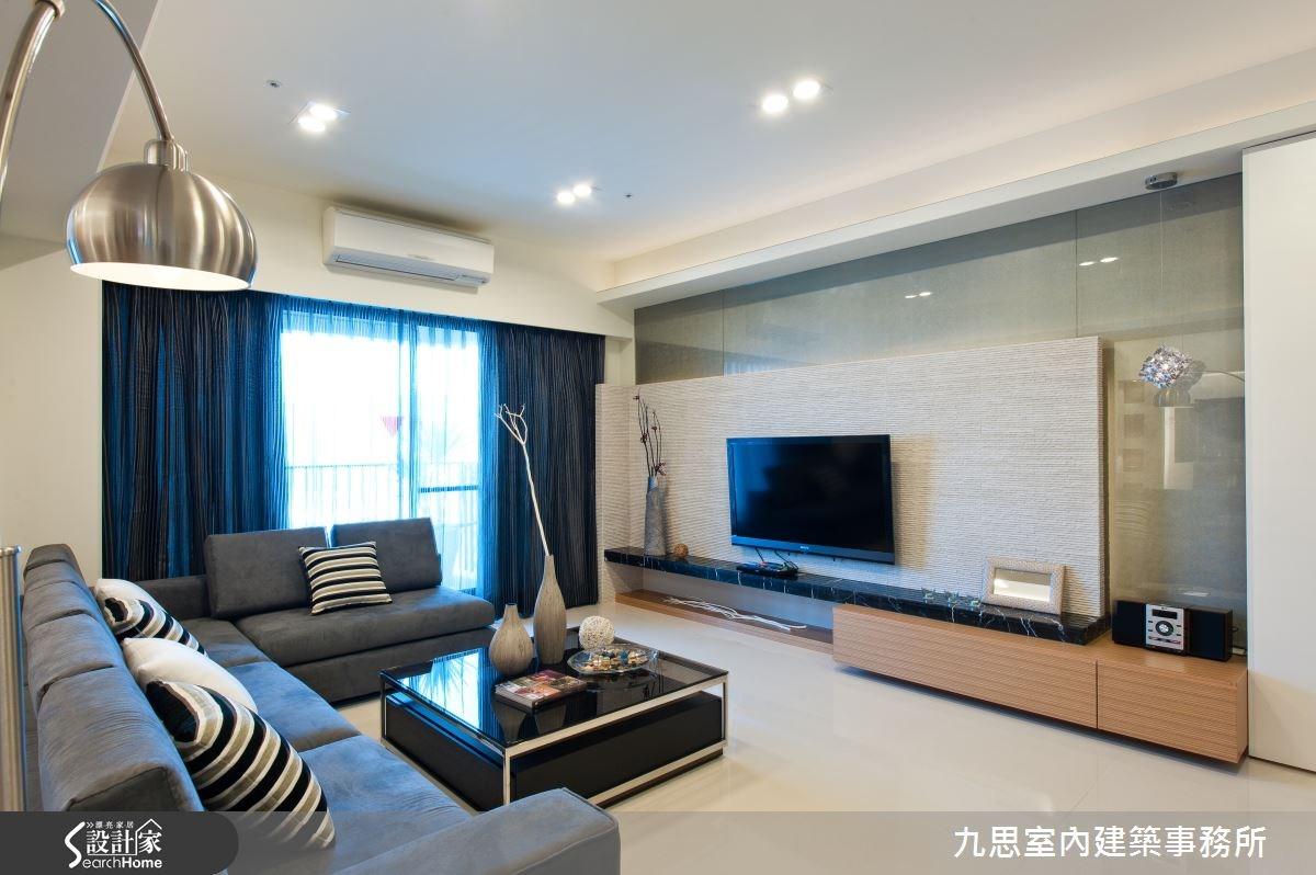 60坪新成屋(5年以下)_簡約風客廳案例圖片_九思室內建築事務所_九思_05之2
