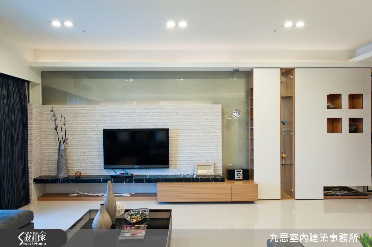 60坪新成屋(5年以下)_簡約風客廳案例圖片_九思室內建築事務所_九思_05之4