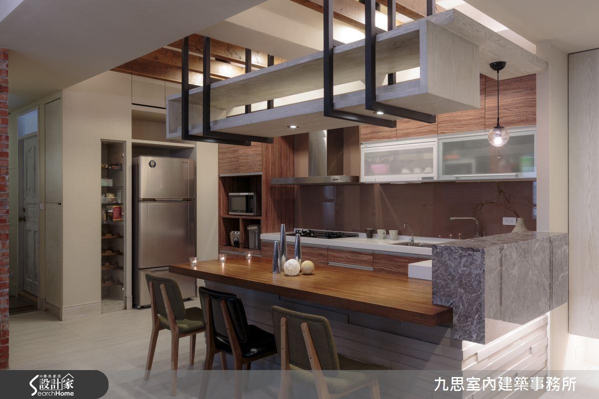 35坪中古屋(5~15年)_工業風餐廳廚房案例圖片_九思室內建築事務所_九思_08之5