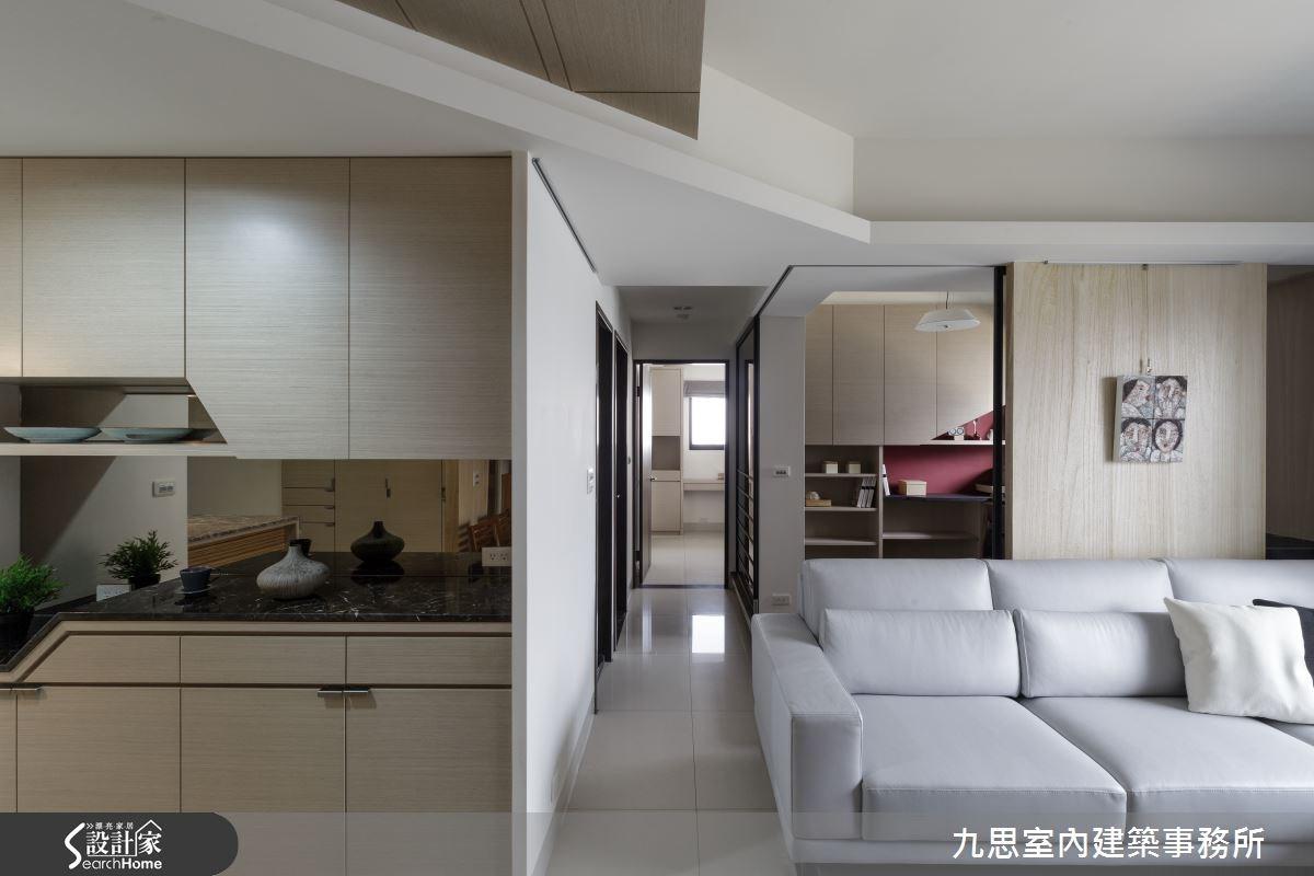 22坪新成屋(5年以下)_簡約風客廳走廊案例圖片_九思室內建築事務所_九思_09之4
