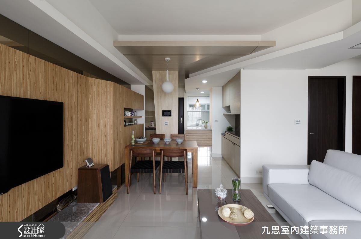 22坪新成屋(5年以下)_簡約風客廳餐廳案例圖片_九思室內建築事務所_九思_09之5